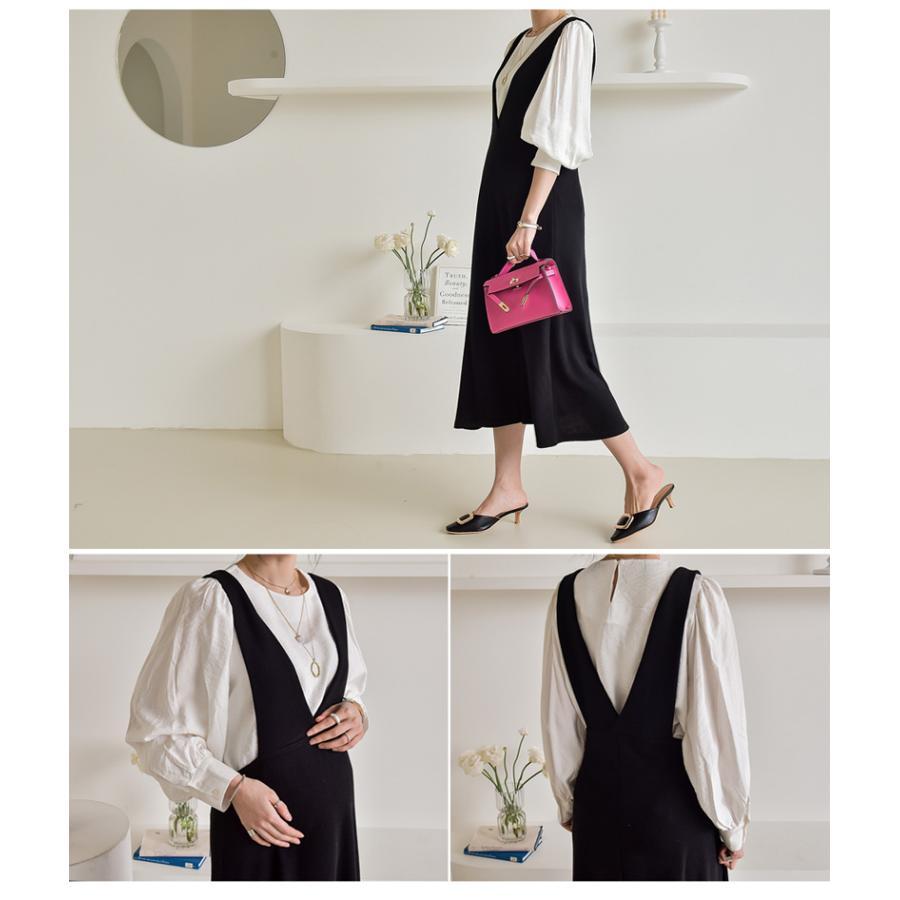 マタニティ 服 ワンピース 秋 安い Vネック オフィス 事務 ジャンパースカート ロング 大きいサイズ 妊婦服 メール便可/SDM63005|ette|03