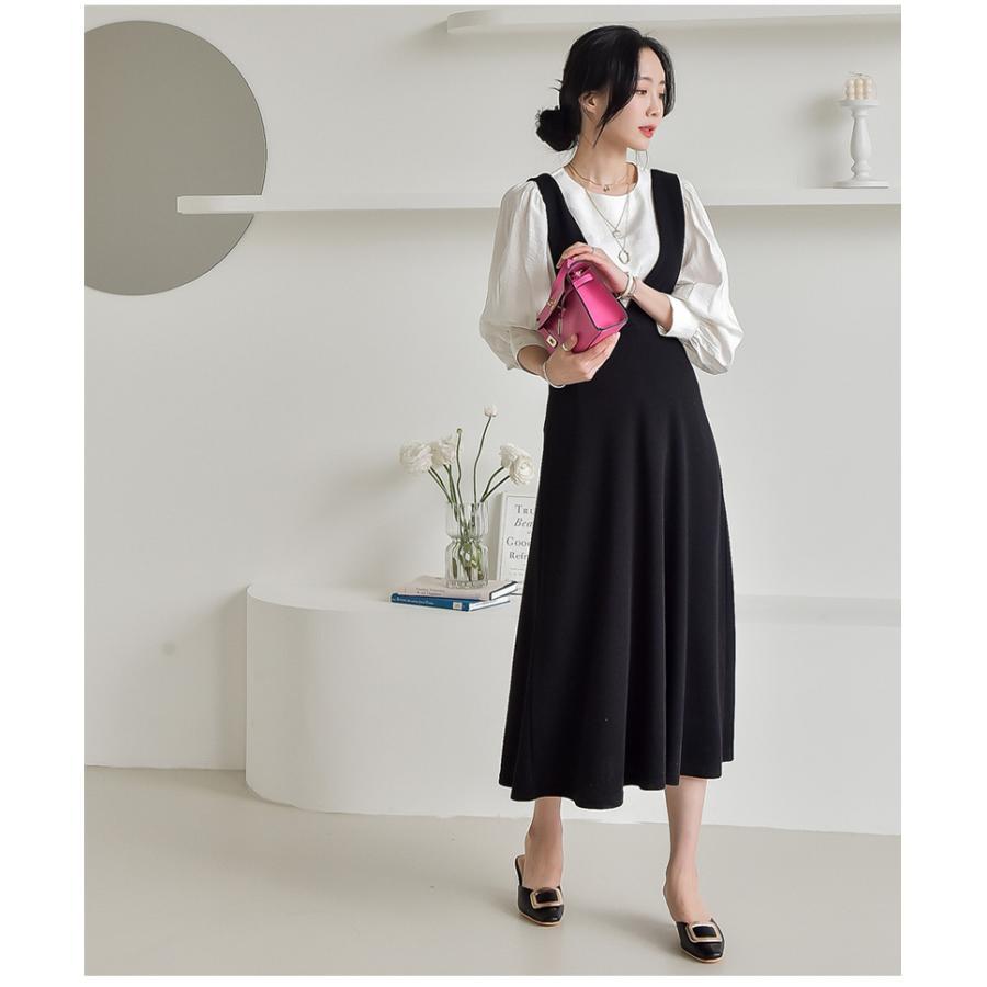 マタニティ 服 ワンピース 秋 安い Vネック オフィス 事務 ジャンパースカート ロング 大きいサイズ 妊婦服 メール便可/SDM63005|ette|05