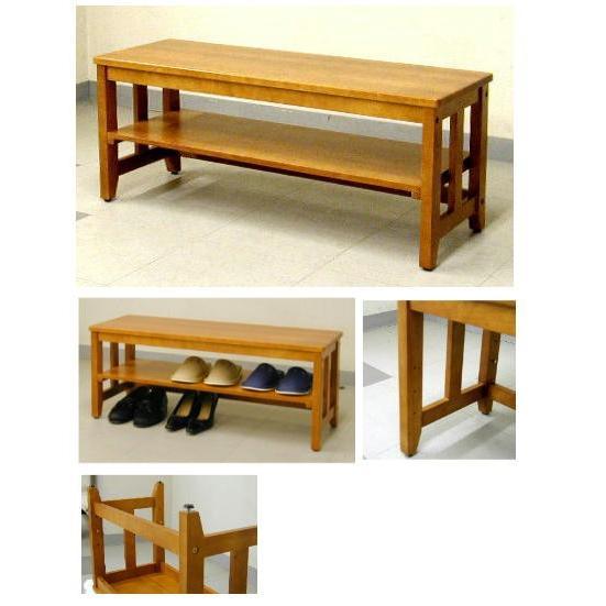 木製の玄関ベンチ 87センチ幅 9.0kg(EB-873N)|ettyuuya