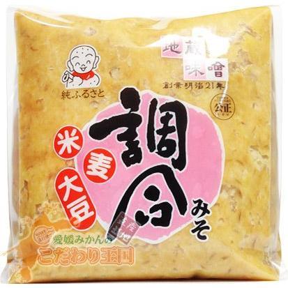 味噌 調合みそ2kg袋入り 地蔵 徳用 米糀 麦麹 味噌汁 などに eu-oukoku