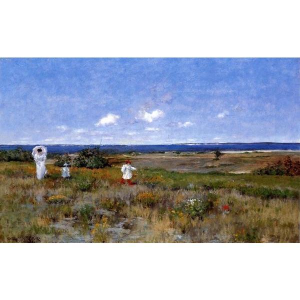 油絵 William Merritt Chaseの名作_シネコック海岸