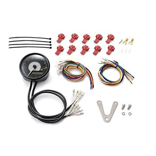 デイトナ(Daytona)VELONA 電気式タコ&スピードメーター φ80 9000rpm ステンレスボディ ホワイトLED 95955