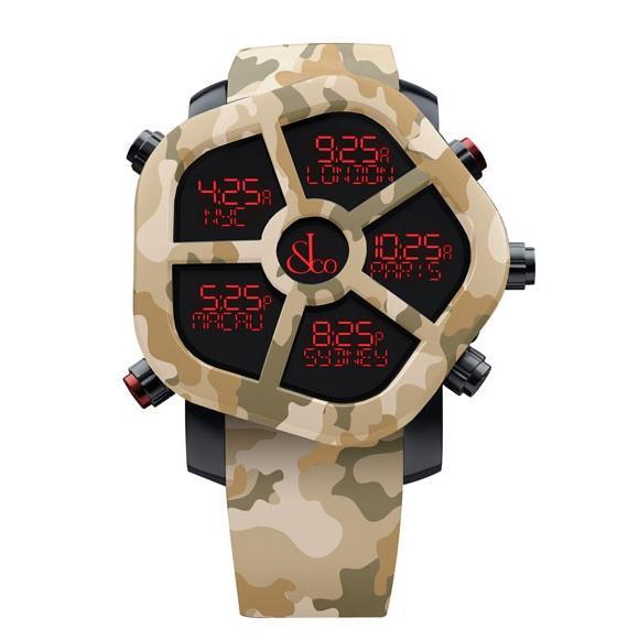 驚きの価格が実現! ジェイコブ ゴースト JC-GST-CAMOBR カモフラージュカラーサンド(ブラウン) 腕時計 メンズ JACOB&CO GHOST デジタル 5time zone, セレクト腕時計のお店 WATCH-LAB 6feb4903