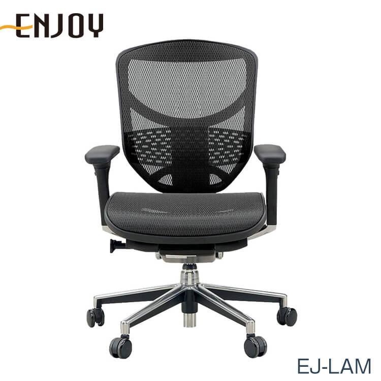 エルゴヒューマン チェアー EJ-LAM Ergohuman 人間工学 多機能 メッシュ ロータイプ オフィス 高品質 ENJOY KM11 送料無料