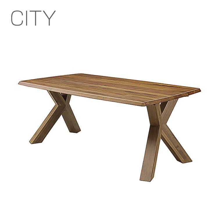 シティ 岩倉榮利 CITY 165cm幅 ダイニングテーブル 食卓 LDテーブル ウォールナット C-30 デザイナーズ家具 送料無料