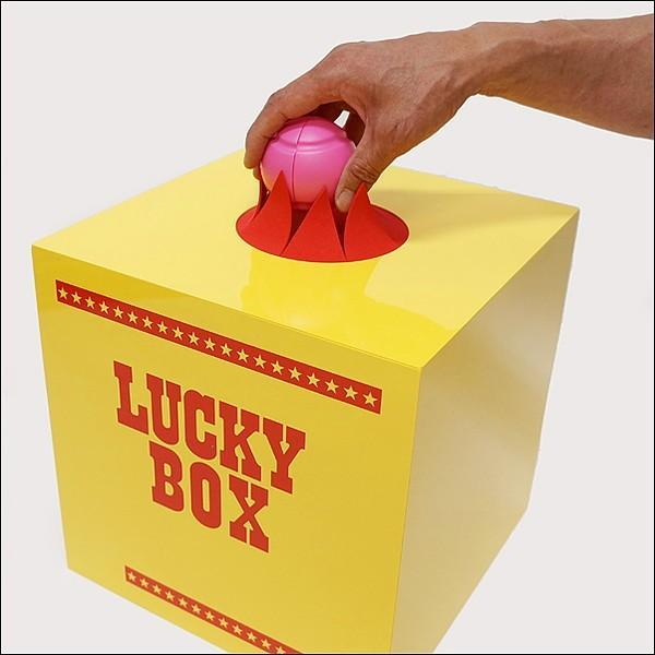 28cm黄色プラスチック抽選ボックス&カプセル型カラーボール5色 25個セット event-ya 03