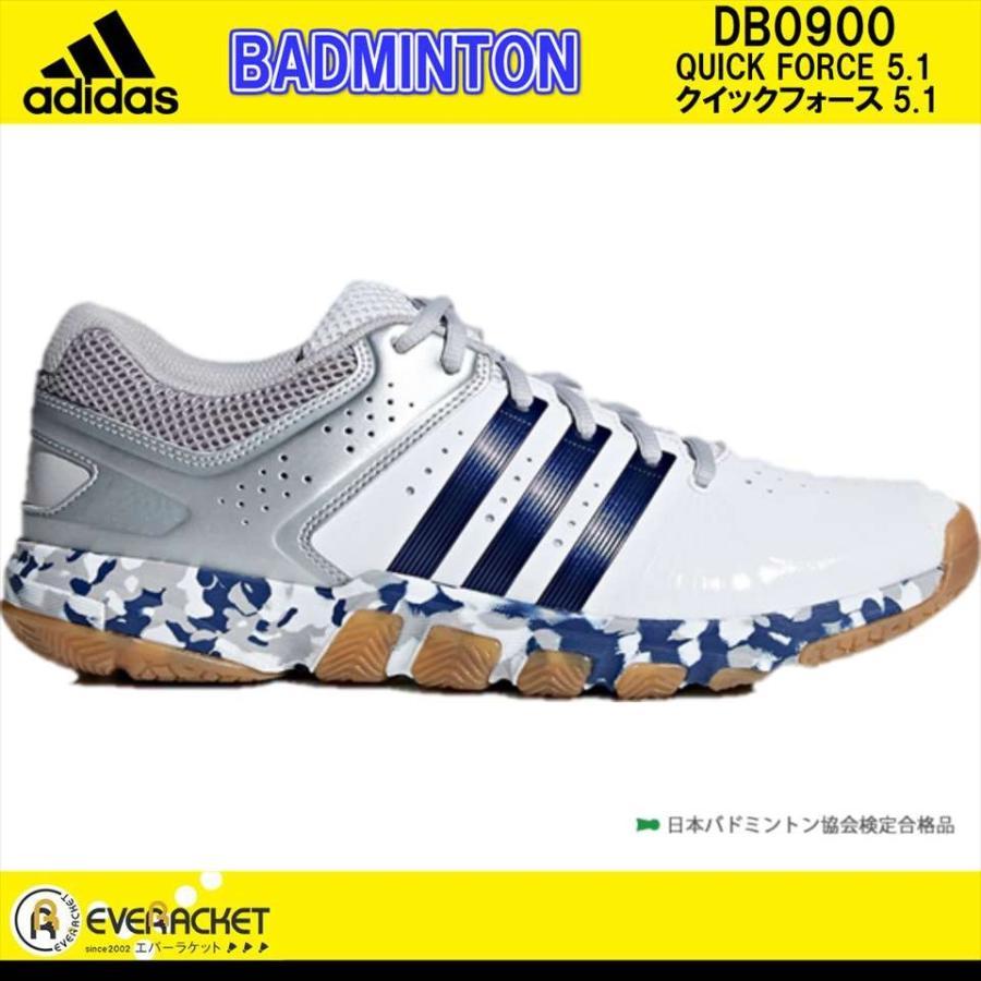 【お買い得商品】 adidas アディダススリービー ラケットスポーツジャパン バドミントン バドミントンシューズ クイックフォース5.1 シューズ DB0900