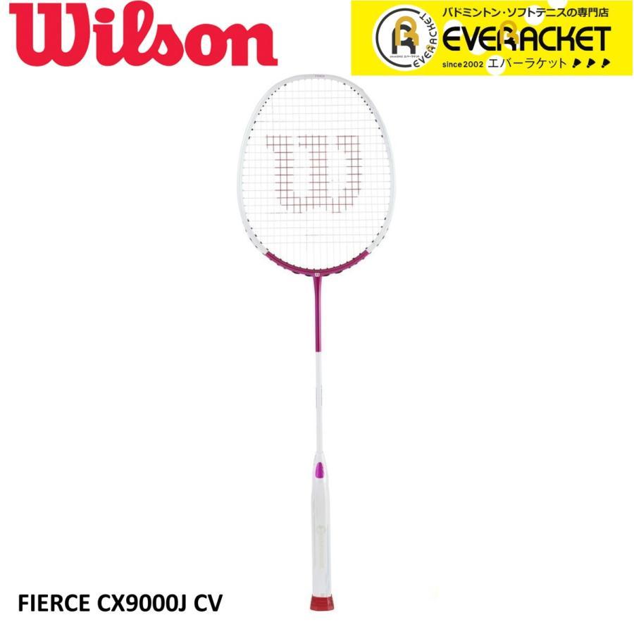 【最短出荷】《ガット代・張り代・送料無料》Wilson ウイルソン バドミントン バドミントンラケット FIERCE CX 9000J WR009811S|ever-racket