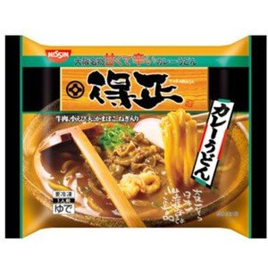 日清 得正 カレーうどん 1人前(280g)X12袋【送料無料】【冷凍食品】甘くて辛い濃厚なスープ。牛肉、小えびてんぷら、かまぼこ、ねぎが入っています