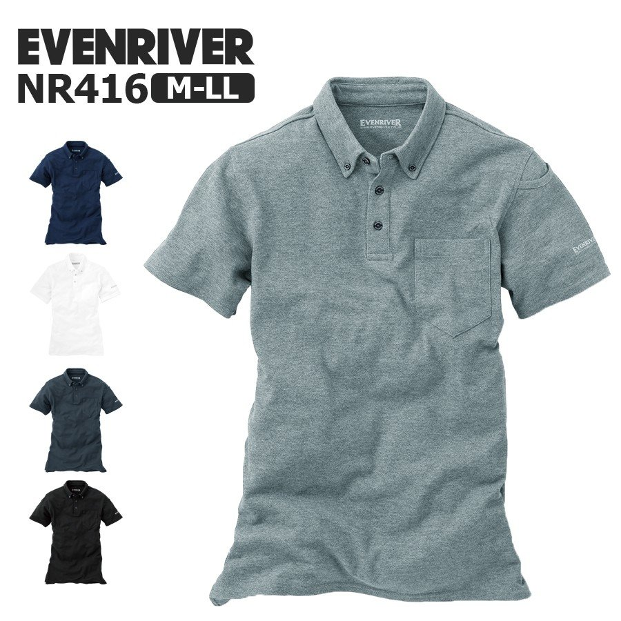 EVENRIVER ポロシャツ NR416