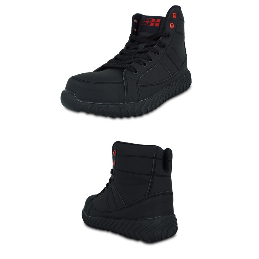 安全スニーカー 安全靴 作業靴 ハイカット カジュアル 樹脂製先芯 HEAVYDUTY HUMMER ヘビーデューティーハマー 弘進ゴム HDH-301H|everest-work|03