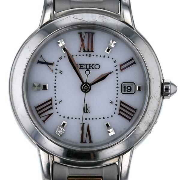 人気 セイコー セイコー SEIKO ルキア 1Pダイヤモンド 1B22-0CK0 ソーラー ホワイト ルキア 文字盤 ホワイト 3針式 レディース 腕時計【el】【】, LIFE TIME AGGREGATE:73456ed0 --- airmodconsu.dominiotemporario.com