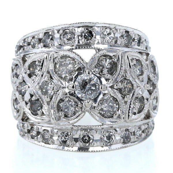 激安通販の Pt900 プラチナ リング ダイヤモンド 2.02ct 花 フラワー 植物 透かし 幅広 指輪 13号【新品仕上済】【zz】【】, カギと錠のクローバー 32e39446