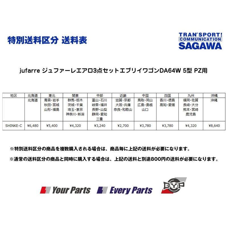 【ブルーイッシュブラックパールZJ3】jufarre ジュファーレエアロ3点セットエブリイワゴン DA64W 5/6型 PZ系 everyparts 02