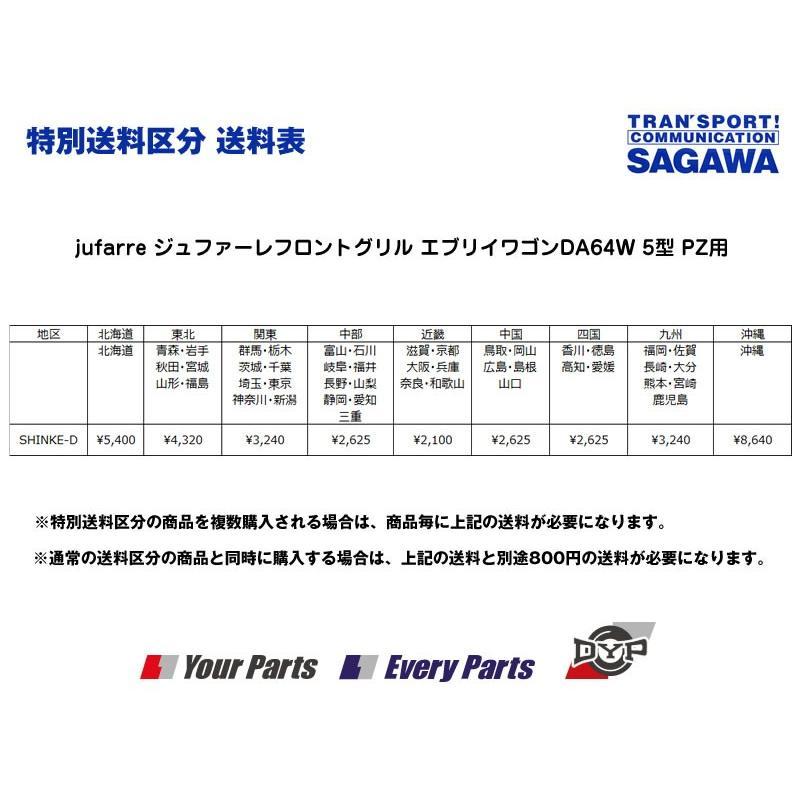 【ブルーイッシュブラックパールZJ3】jufarre ジュファーレフロントグリル エブリイワゴンDA64W 5/6型 PZ系|everyparts|02