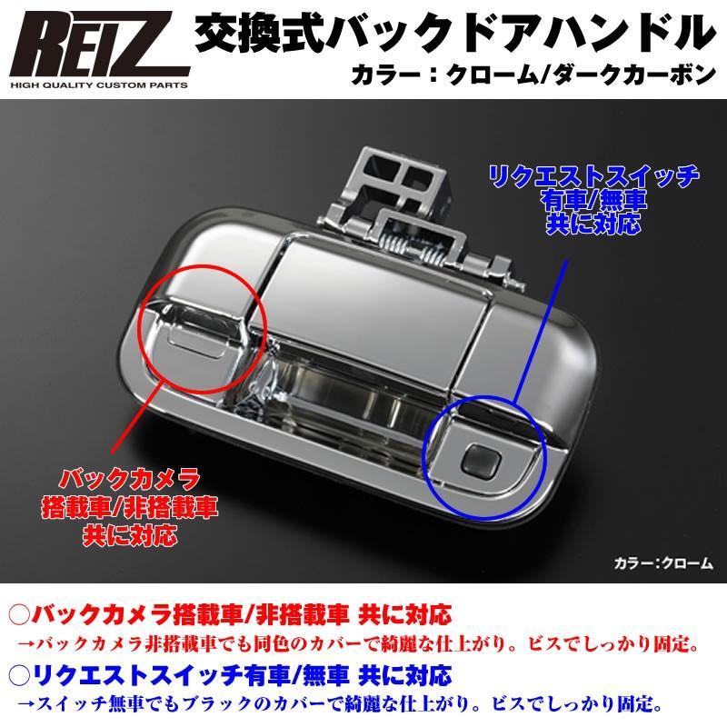 【クローム】REIZ ライツ 交換式バックドアハンドル1P 新型エブリイワゴンDA17W(H27/2-)|everyparts