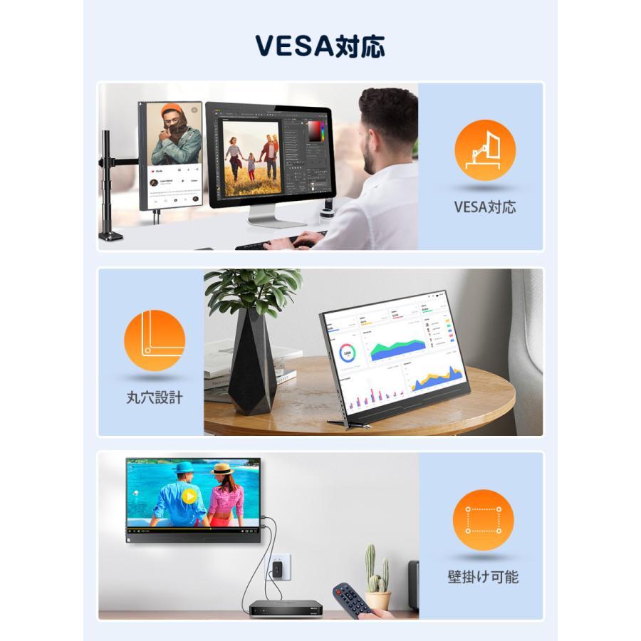 EVICIV 4K 15.6インチ USB Type-C/標準HDMI/mini DP モバイルディスプレイ Adobe100%色域 HDR 狭縁 薄型 軽量 IPSパネル カバー/日本語説明書付|eviciv|03