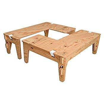 YOKA L-TABLE テーブル 2台セット ウレタン塗装済み
