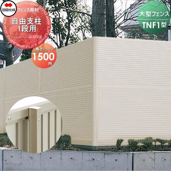 大型フェンス 四国化成 防音フェンス TNF 【1型用 自由支柱 1段用 H1500】 75FP-15SC