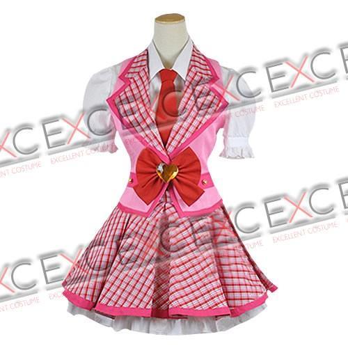 アイカツ! 星宮いちご(ほしみやいちご) ピンクステージ 風 コスプレ衣装