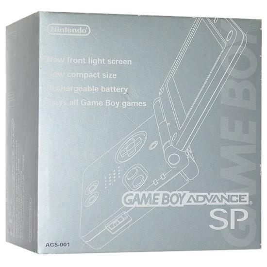 【キャッシュレスで5%還元】【中古】任天堂 ゲームボーイアドバンスSP プラチナシルバー 本体のみ 元箱あり