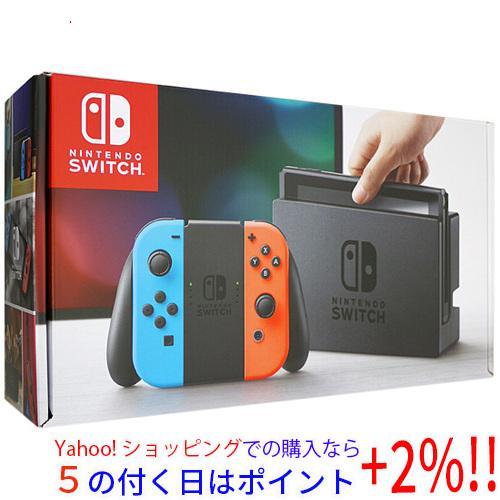 【キャッシュレスで5%還元】【中古】任天堂 Nintendo Switch ネオンブルー/ネオンレッド 元箱あり
