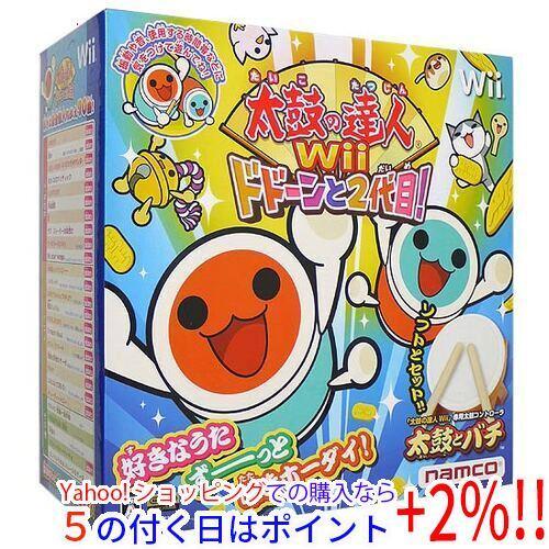 太鼓の達人Wii ドドーンと2代目! 「太鼓とバチ」同梱版★未開封