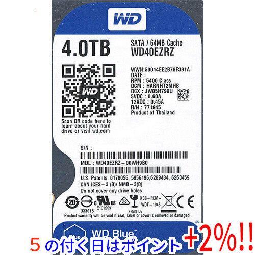 Western Digital製HDD WD40EZRZ 4TB SATA600 国内送料無料 5400 スーパーセール