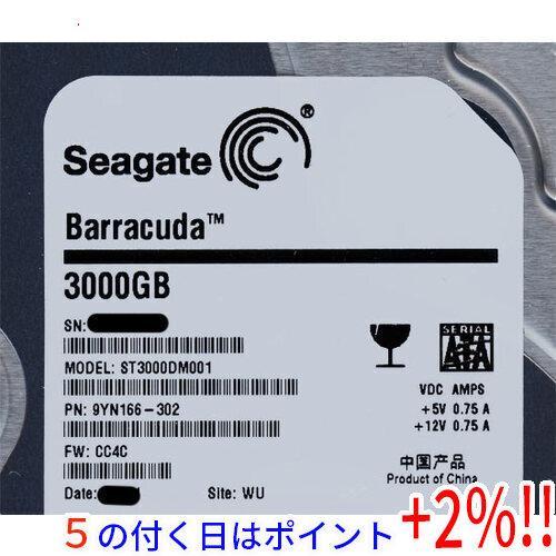 SEAGATE製HDD ST3000DM001 3TB 実物 7200 SATA600 本物