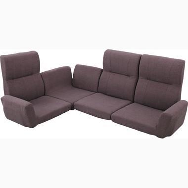 ファンクションソファ(ブラウン/茶)〈LSS-11BR〉フロアソファ ローソファ 座椅子 14段階リクライニング 機能的 インテリア 家具 ファンクションソファ(ブラウン/茶)〈LSS-11BR〉フロアソファ ローソファ 座椅子 14段階リクライニング 機能的 インテリア 家具