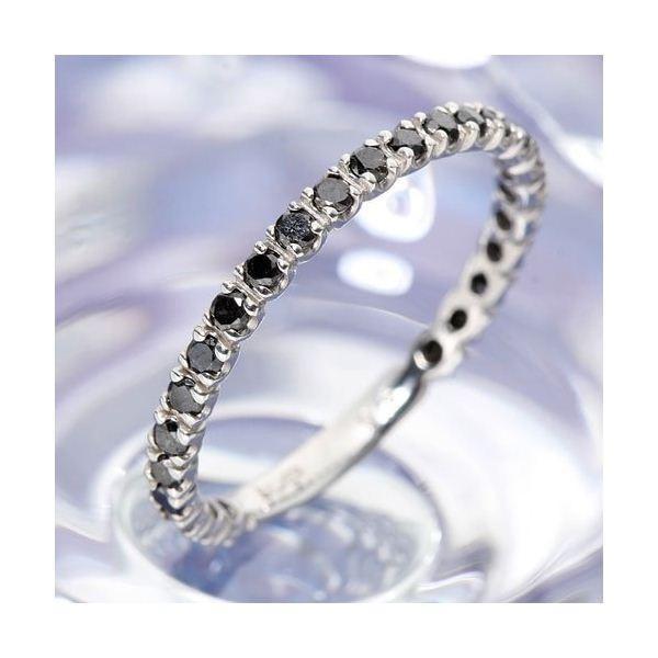 大人の上質  0.5ctブラックダイヤリング 指輪 エタニティリング 7号, kodomore c9dc627d