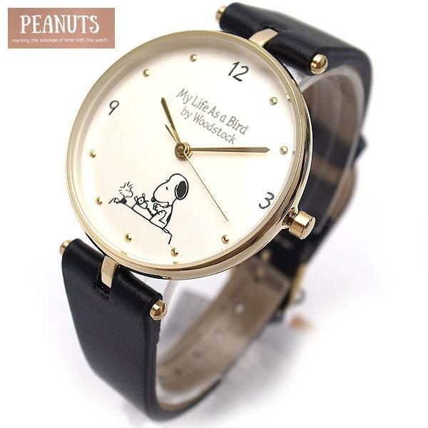 スヌーピー 時計 レディース ブラック PEANUTS スヌーピーとウッドストックの腕時計 PNT009-3【送料無料】子供から大人まで対応 excelworld