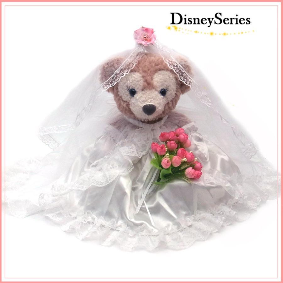 シェリーメイ ピンクのお花のブーケ ウェディングドレス ぬいぐるみ コスチューム Sサイズ用 Wedding-ピンクflower