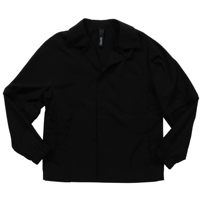 【SALE 50】hevo イーヴォ GROM718 ナイロンオープンカラーシャツジャケット 21春夏 2558/IRIDESCENT 2517/BLACK 1105-GROM718 exclusive 02