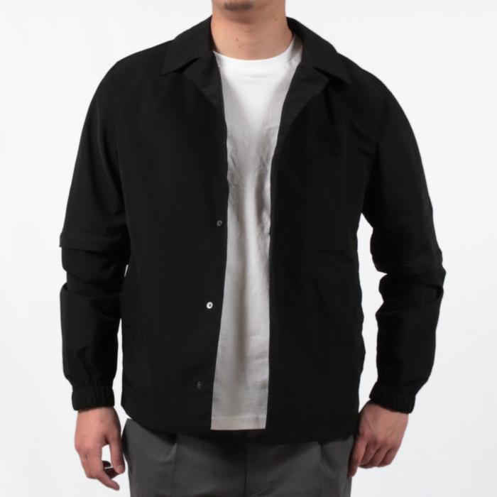 【SALE 50】hevo イーヴォ GROM718 ナイロンオープンカラーシャツジャケット 21春夏 2558/IRIDESCENT 2517/BLACK 1105-GROM718 exclusive 14