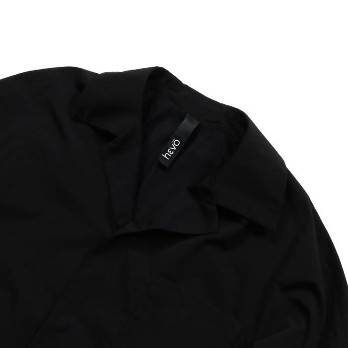 【SALE 50】hevo イーヴォ GROM718 ナイロンオープンカラーシャツジャケット 21春夏 2558/IRIDESCENT 2517/BLACK 1105-GROM718 exclusive 04