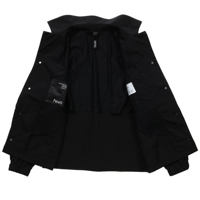 【SALE 50】hevo イーヴォ GROM718 ナイロンオープンカラーシャツジャケット 21春夏 2558/IRIDESCENT 2517/BLACK 1105-GROM718 exclusive 09