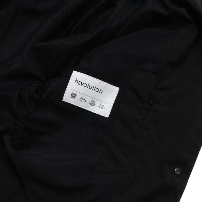 【SALE 50】hevo イーヴォ GROM718 ナイロンオープンカラーシャツジャケット 21春夏 2558/IRIDESCENT 2517/BLACK 1105-GROM718 exclusive 10