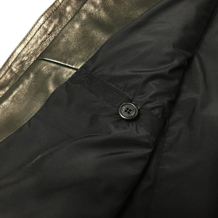 EMMETI エンメティ×干場義雅 H UOMO アッカウォモ ラム ナッパレザー  シングルライダースレザージャケット メンズ 21春夏 NERO/BLACK exclusive 12