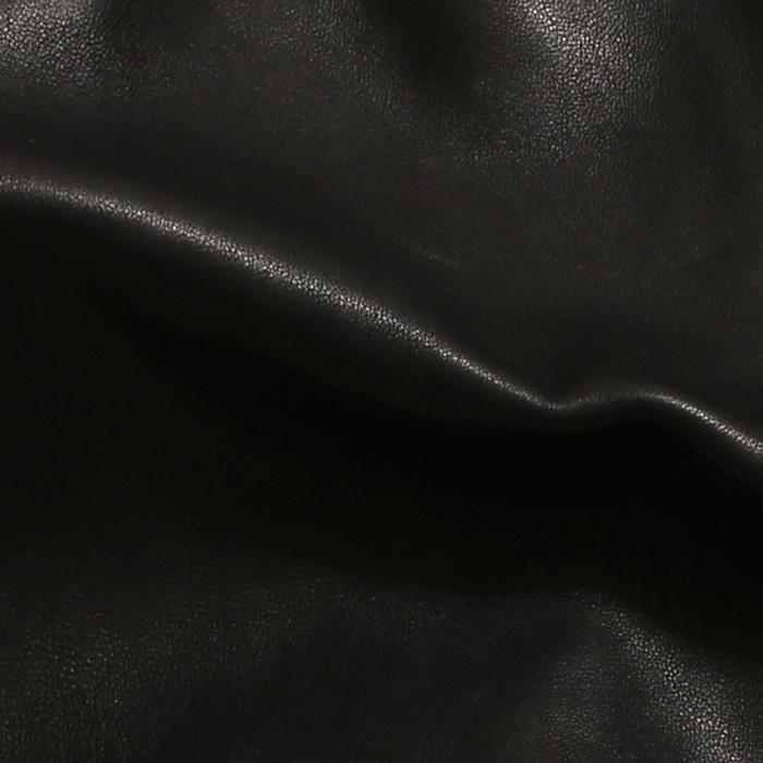 EMMETI エンメティ×干場義雅 H UOMO アッカウォモ ラム ナッパレザー  シングルライダースレザージャケット メンズ 21春夏 NERO/BLACK exclusive 15