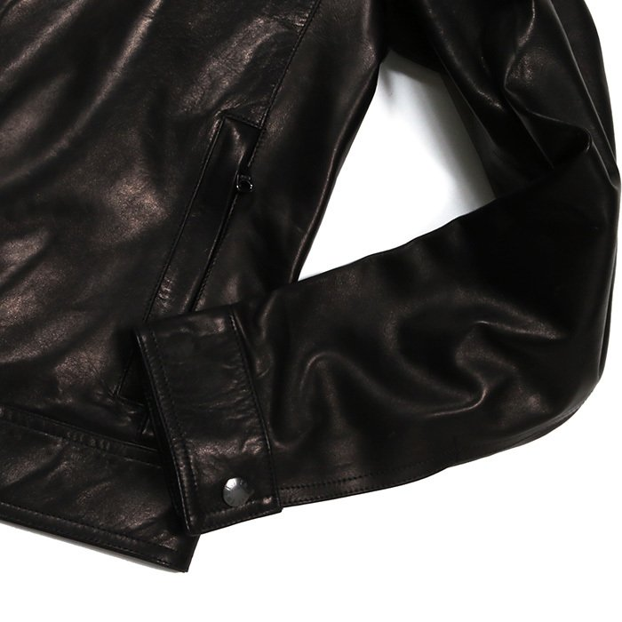 EMMETI エンメティ JURI ユリ ラム ナッパレザー 0.6mm極薄レザー シングルライダースレザージャケット 21春夏 メンズ NERO/BLACK exclusive 12