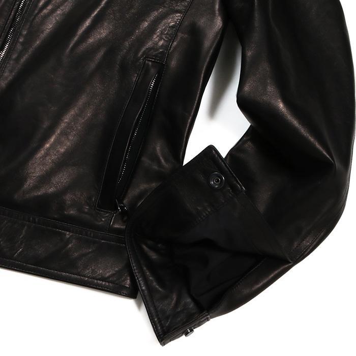 EMMETI エンメティ JURI ユリ ラム ナッパレザー 0.6mm極薄レザー シングルライダースレザージャケット 21春夏 メンズ NERO/BLACK exclusive 13