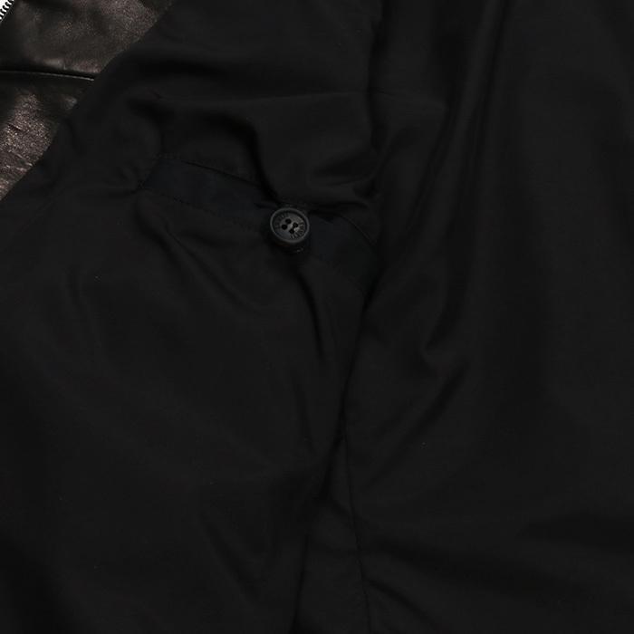 EMMETI エンメティ JURI ユリ ラム ナッパレザー 0.6mm極薄レザー シングルライダースレザージャケット 21春夏 メンズ NERO/BLACK exclusive 15