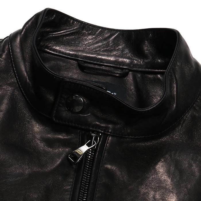 EMMETI エンメティ JURI ユリ ラム ナッパレザー 0.6mm極薄レザー シングルライダースレザージャケット 21春夏 メンズ NERO/BLACK exclusive 08