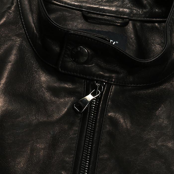 EMMETI エンメティ JURI ユリ ラム ナッパレザー 0.6mm極薄レザー シングルライダースレザージャケット 21春夏 メンズ NERO/BLACK exclusive 09