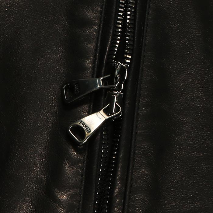 EMMETI エンメティ JURI ユリ ラム ナッパレザー 0.6mm極薄レザー シングルライダースレザージャケット 21春夏 メンズ NERO/BLACK exclusive 10