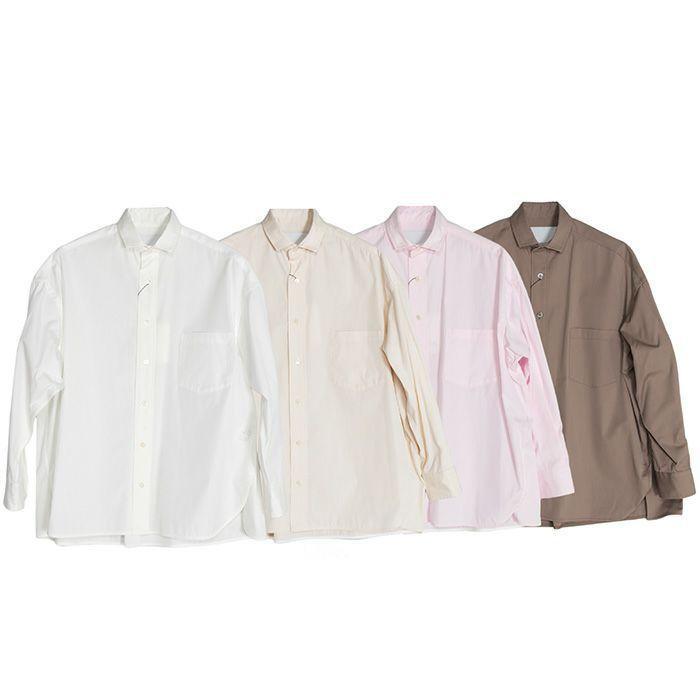 【SALE 40】TICCA ティッカ スクエアビッグシャツ レディース 21春夏 WHITE CREAM PINK MOCA TBAS-101|exclusive