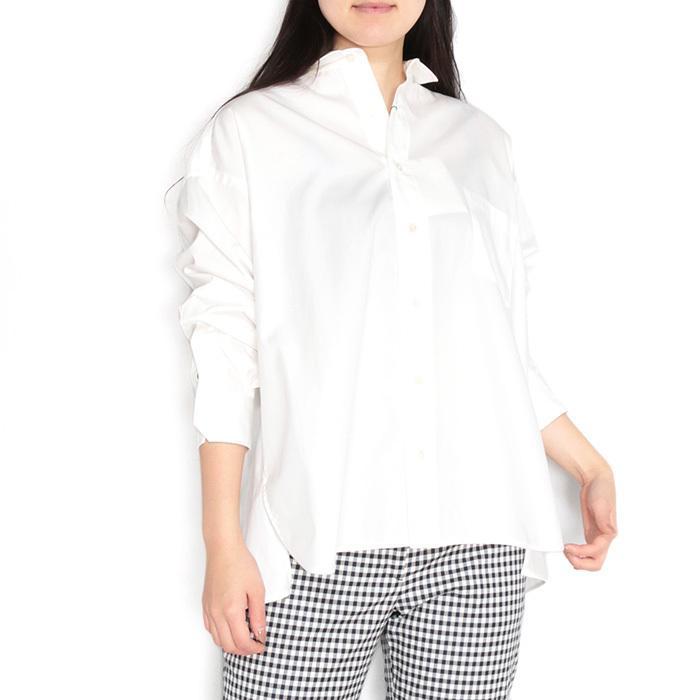 【SALE 40】TICCA ティッカ スクエアビッグシャツ レディース 21春夏 WHITE CREAM PINK MOCA TBAS-101|exclusive|17