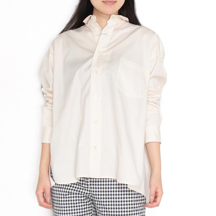 【SALE 40】TICCA ティッカ スクエアビッグシャツ レディース 21春夏 WHITE CREAM PINK MOCA TBAS-101|exclusive|18