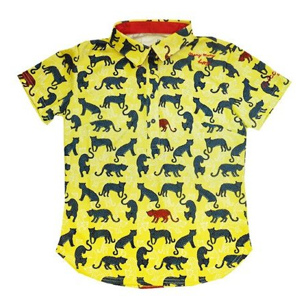 SALE! ILicca Golf イリッカゴルフ IG19-2102 レディース Women's Panther Print Polo Yellow